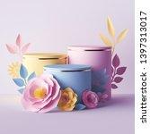 3d render  botanical background ... | Shutterstock . vector #1397313017