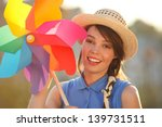 young happy funny  vintage ... | Shutterstock . vector #139731511