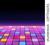 illustration of a dance floor... | Shutterstock .eps vector #1397316251