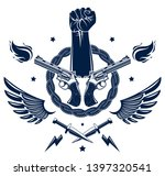 revolution and riot aggressive... | Shutterstock .eps vector #1397320541