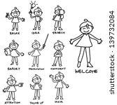 cartoon hand drawing character... | Shutterstock .eps vector #139732084
