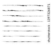 grunge paint roller . vector... | Shutterstock .eps vector #1397326871