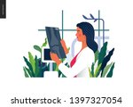 medical tests template   x ray... | Shutterstock .eps vector #1397327054