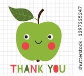 thank you vector card for a... | Shutterstock .eps vector #1397335247
