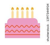 birthday cake sign icon. cake...   Shutterstock .eps vector #1397344934