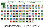 africa stamps alphabetic... | Shutterstock .eps vector #139734919