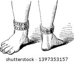 ankle bracelet has antique... | Shutterstock .eps vector #1397353157