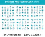 set vector icons with elements... | Shutterstock .eps vector #1397362064