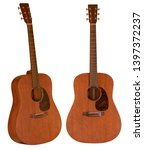 brown acoustic guitar made by... | Shutterstock . vector #1397372237