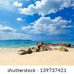 Landscape With White Beach  Th...