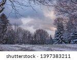 frozen winter snowy landscape... | Shutterstock . vector #1397383211