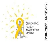 emblem for a childhood cancer... | Shutterstock .eps vector #1397397017
