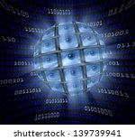 a sphere of video monitors each ... | Shutterstock . vector #139739941