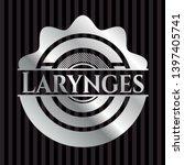 larynges silver shiny emblem .... | Shutterstock .eps vector #1397405741