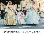valencia  spain   march 17 ... | Shutterstock . vector #1397425754