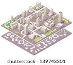 vector isometric city map... | Shutterstock .eps vector #139743301