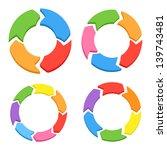 color circle arrows set. raster ... | Shutterstock . vector #139743481