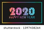 happy new year 2020 with... | Shutterstock .eps vector #1397438264