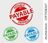 rubber stamp seal payable  ... | Shutterstock .eps vector #1397438267