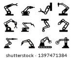 robot icons set vector robotic... | Shutterstock .eps vector #1397471384