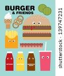 Fast Food Burger Vector...