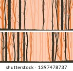 set of horizontal wide banners... | Shutterstock .eps vector #1397478737