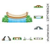 vector illustration  bridgework ...   Shutterstock .eps vector #1397480624