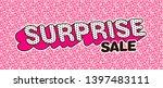 surprise sale design   pink pop ... | Shutterstock .eps vector #1397483111