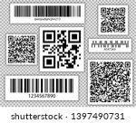 bar and qr codes set. vector... | Shutterstock .eps vector #1397490731