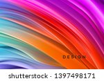 color flow abstract shape... | Shutterstock .eps vector #1397498171