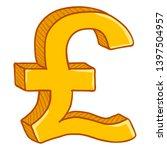 vector cartoon gold currency... | Shutterstock .eps vector #1397504957