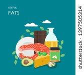 useful fats vector flat style... | Shutterstock .eps vector #1397505314