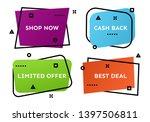 set of four geometric trendy... | Shutterstock .eps vector #1397506811