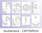floral wedding invitation.... | Shutterstock .eps vector #1397509514