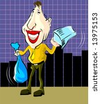 man climbing the graph using a... | Shutterstock .eps vector #13975153