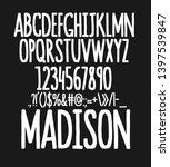 hand drawn typeface set. brush... | Shutterstock .eps vector #1397539847