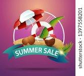 summer sale  round discount... | Shutterstock .eps vector #1397558201