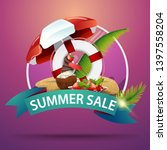 summer sale  round discount... | Shutterstock .eps vector #1397558204