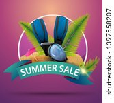 summer sale  round discount... | Shutterstock .eps vector #1397558207