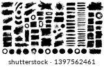 brush strokes bundle. vector... | Shutterstock .eps vector #1397562461