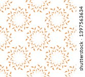 seamless pattern with orange...   Shutterstock .eps vector #1397563634