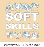 soft skills word concepts...