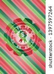 business ribbon icon inside... | Shutterstock .eps vector #1397597264