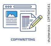 copywriting color line icon....