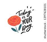 modern typography phrase today... | Shutterstock .eps vector #1397628101