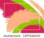 horizontal border with paint... | Shutterstock .eps vector #1397666441