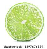 ripe lime slice on white... | Shutterstock . vector #1397676854