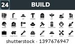 build icon set. 24 filled build ... | Shutterstock .eps vector #1397676947