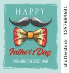 happy fathers day retro poster... | Shutterstock .eps vector #1397684681