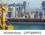 industrial port  infrastructure ... | Shutterstock . vector #1397689451